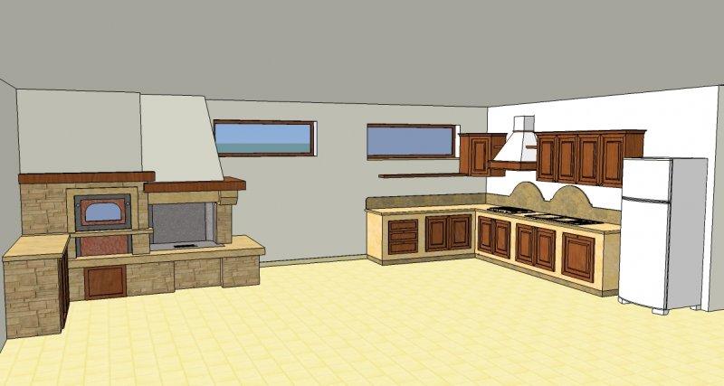 caminetto + cucina