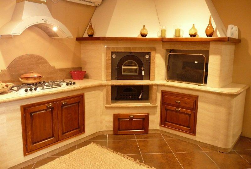 Cucina In Muratura Con Forno A Legna.Cucina In Muratura Con Forno A Legna Ispirazione Per La Casa