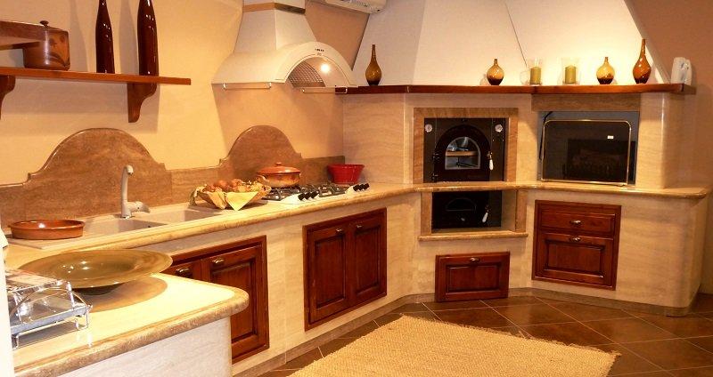 Cucina in muratura francesca - Cucina per tavernetta ...