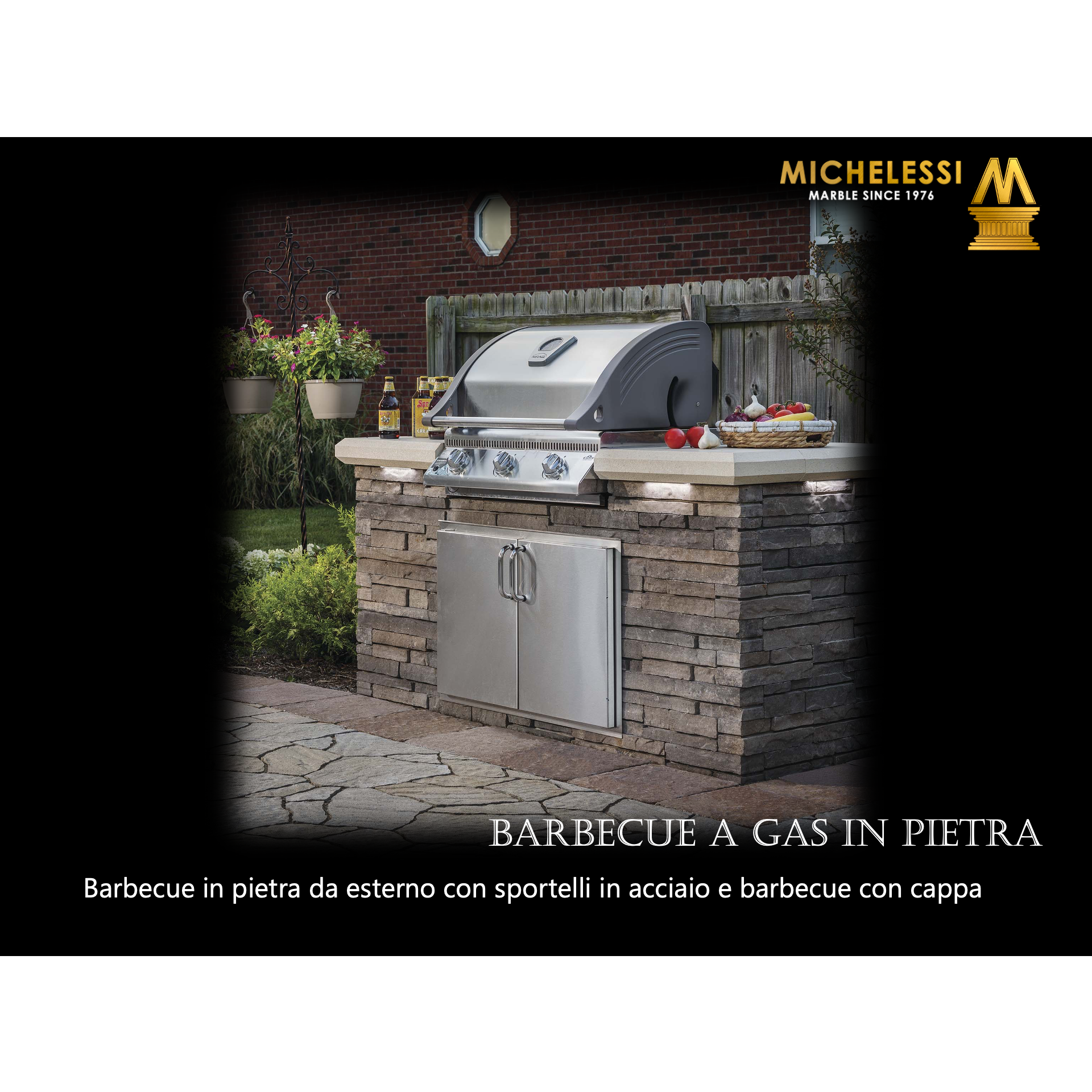 BARBECUE A GAS IN PIETRA