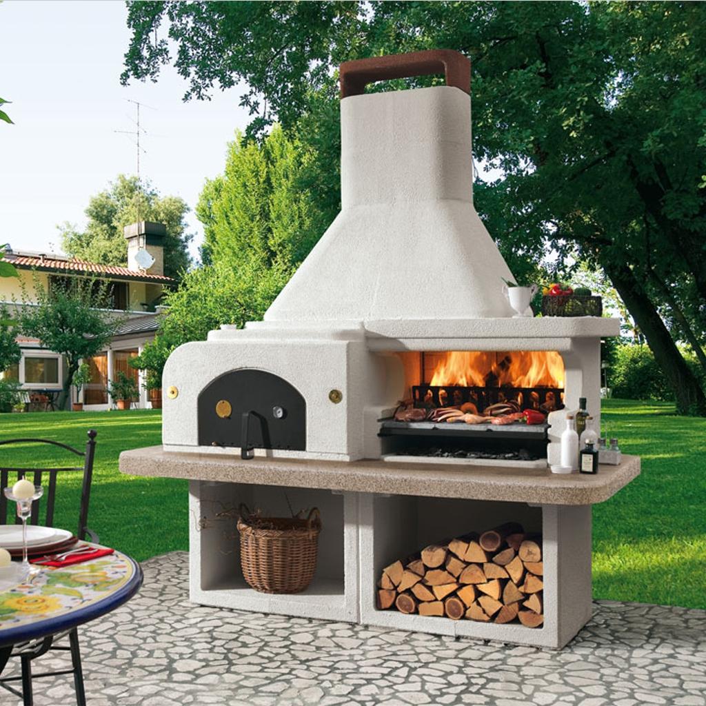 Forno A Legna Con Camino barbecue a legna palazzetti gargano 3
