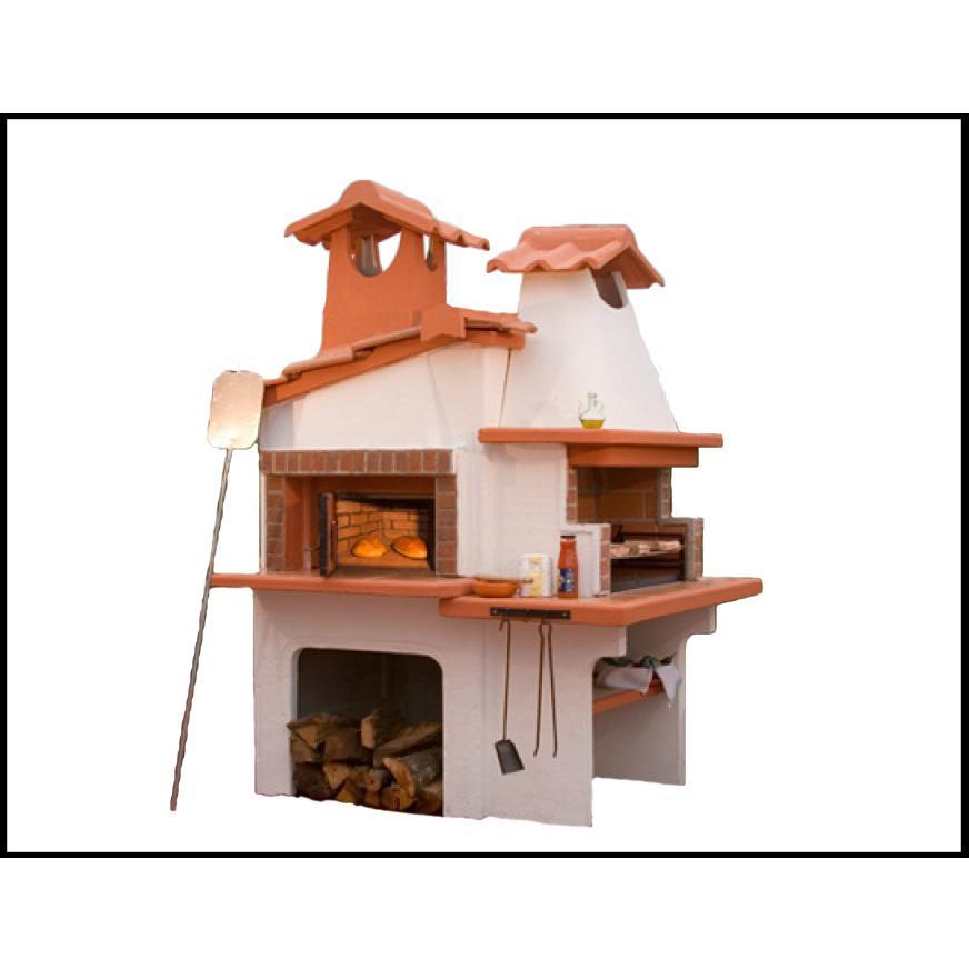 Barbecue con forno a legna napoli - Piani cottura da esterno ...