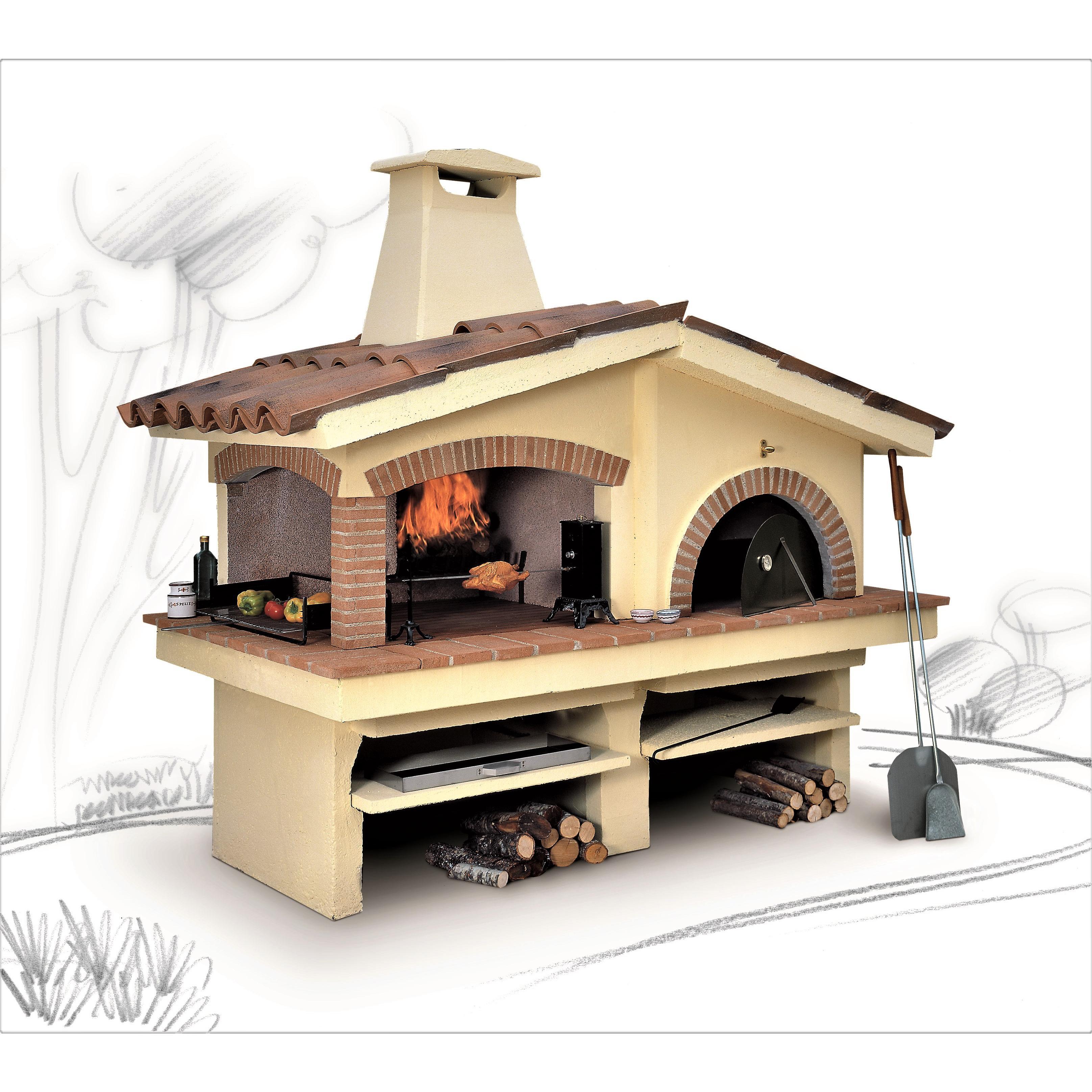 Forno A Legna Con Camino barbecue con forno eden