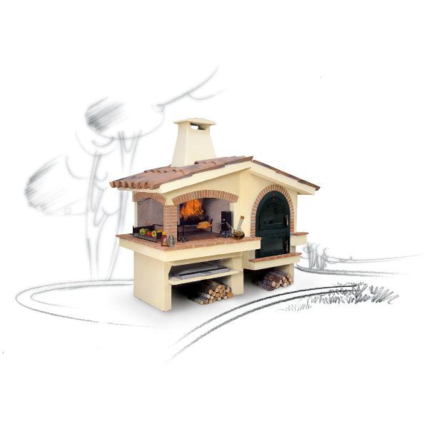 Barbecue con forno eden - Barbecue in muratura con forno ...