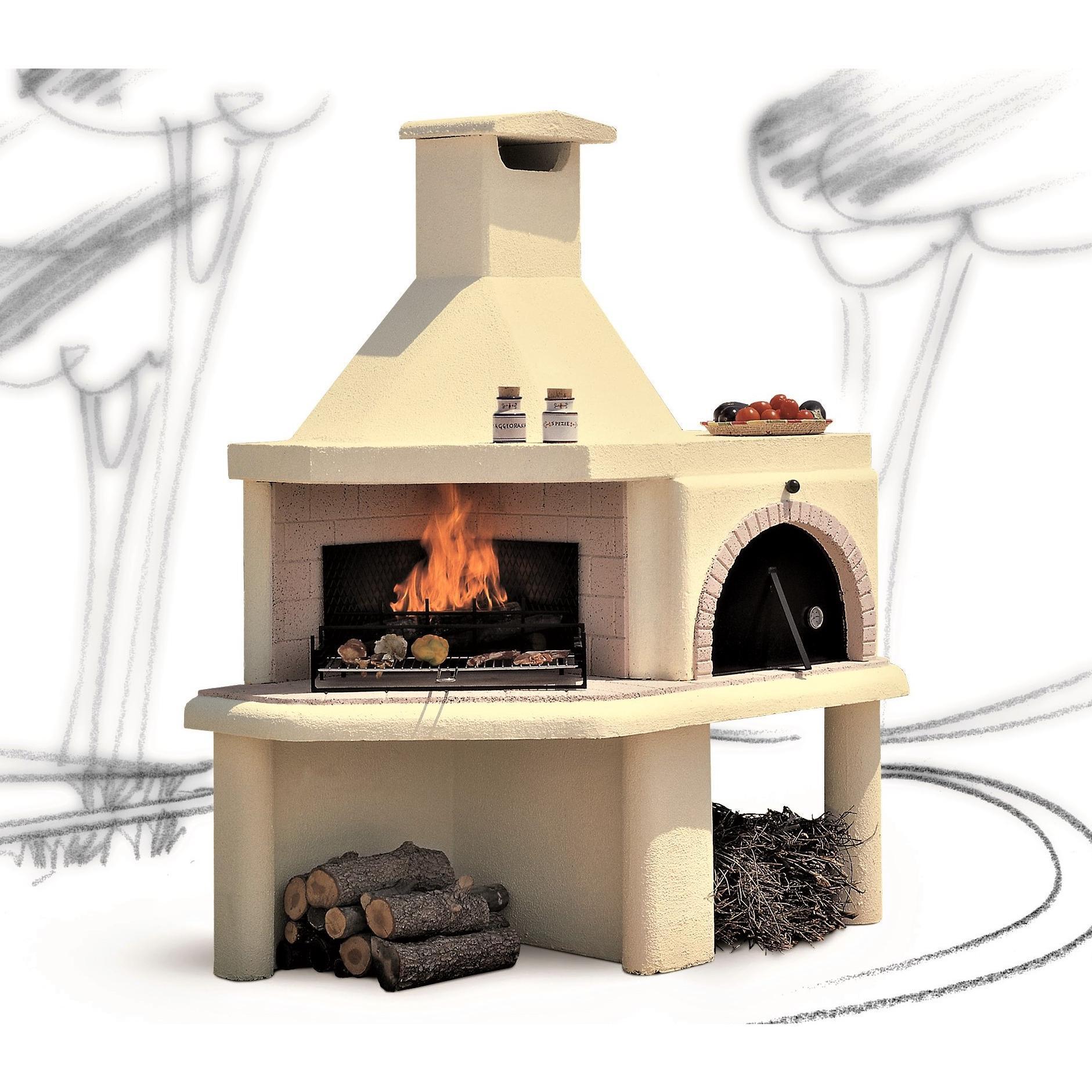 Forno A Legna Con Camino barbecue con forno a legna firenze