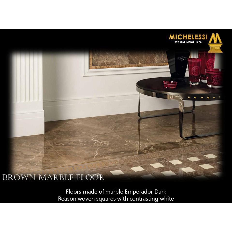 BROWN MARBLE FLOOR