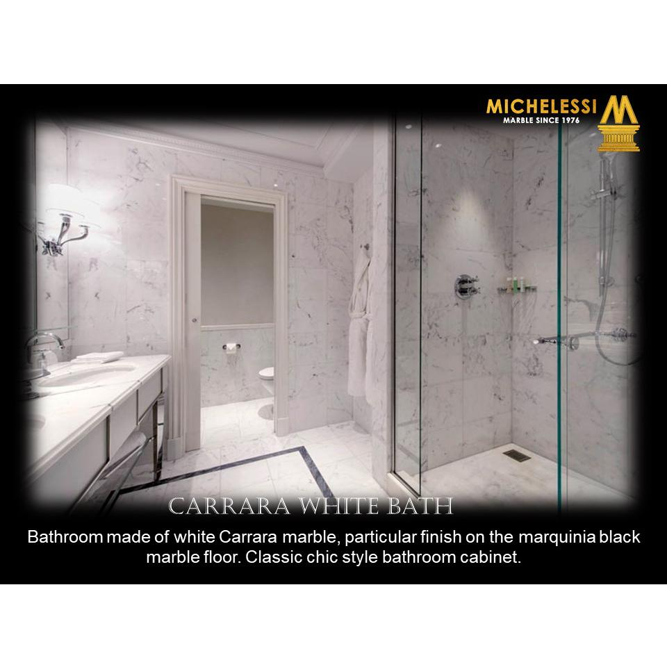 CARRARA WHITE BATH