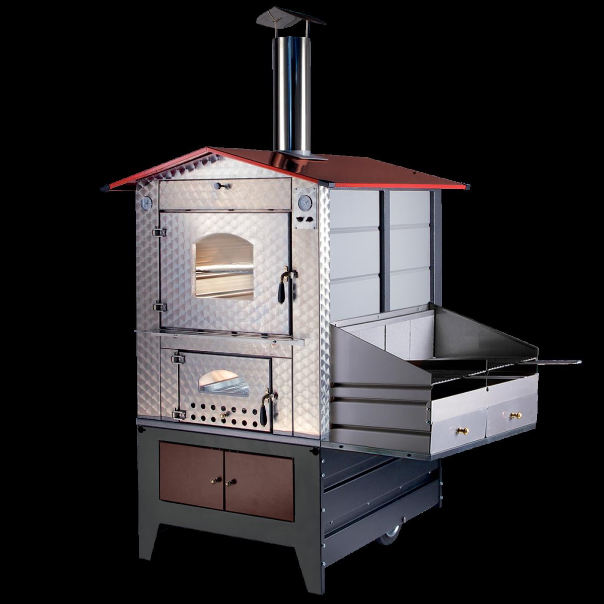 Forno A Legna Acciaio Gemignani G100 Barbecue