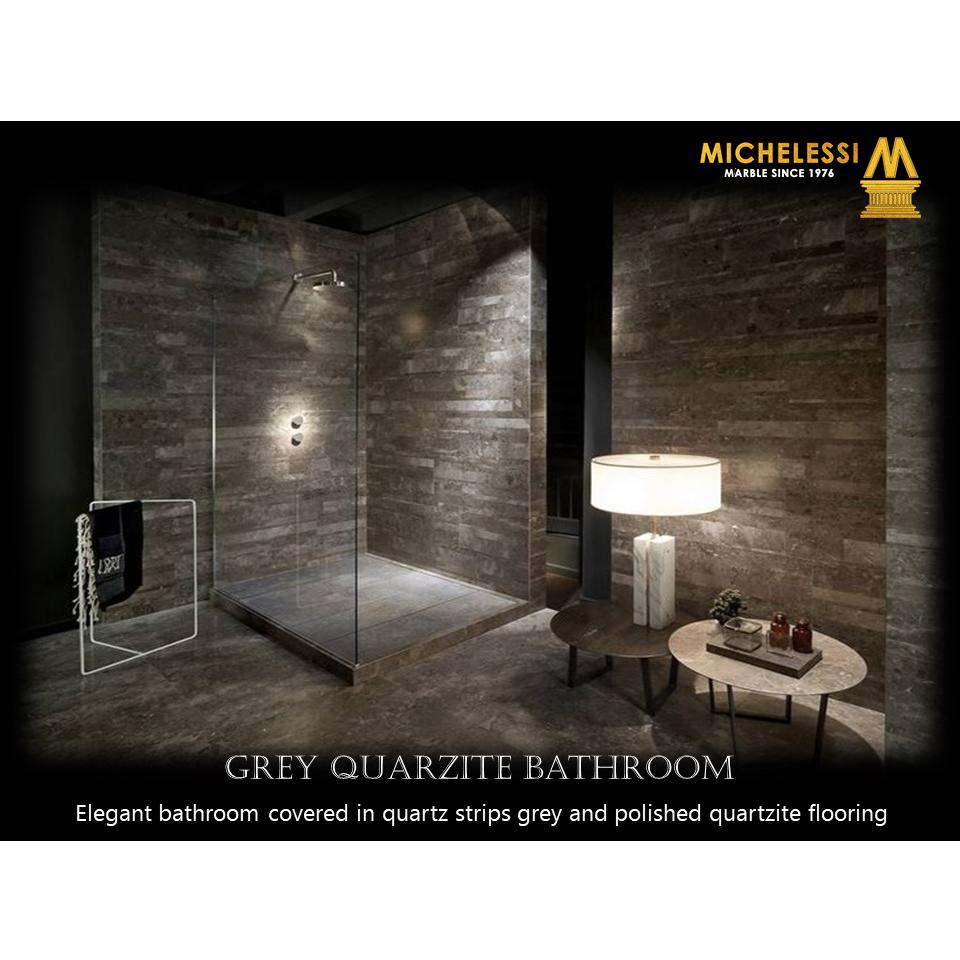 GREY QUARZITE BATHROOM