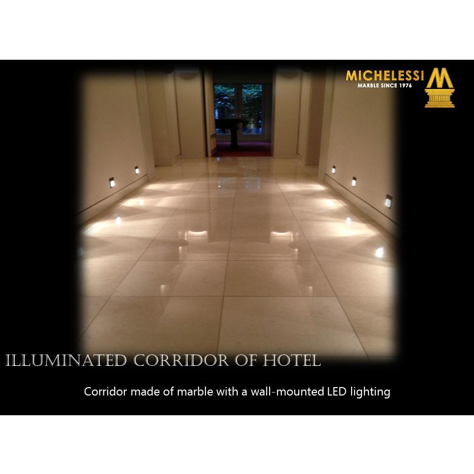 ILLUMINATED CORRIDOR OF HOTEL