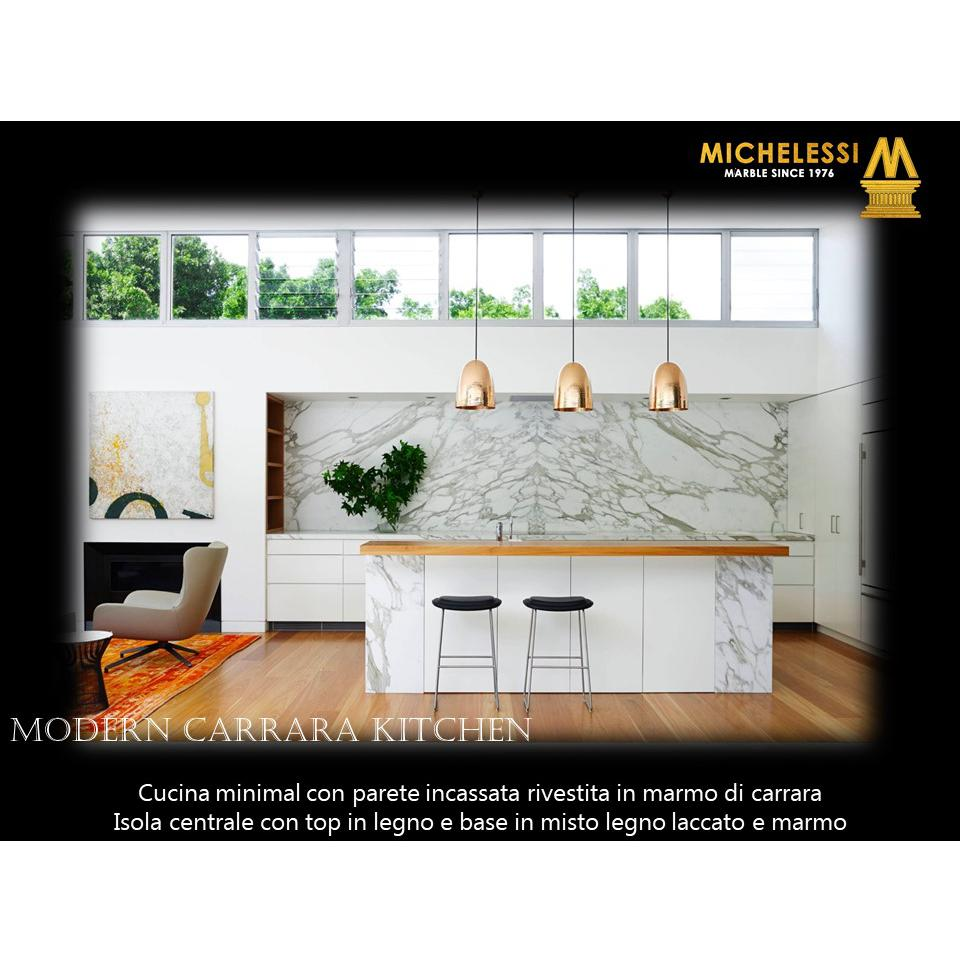 Modern Carrara Kitchen