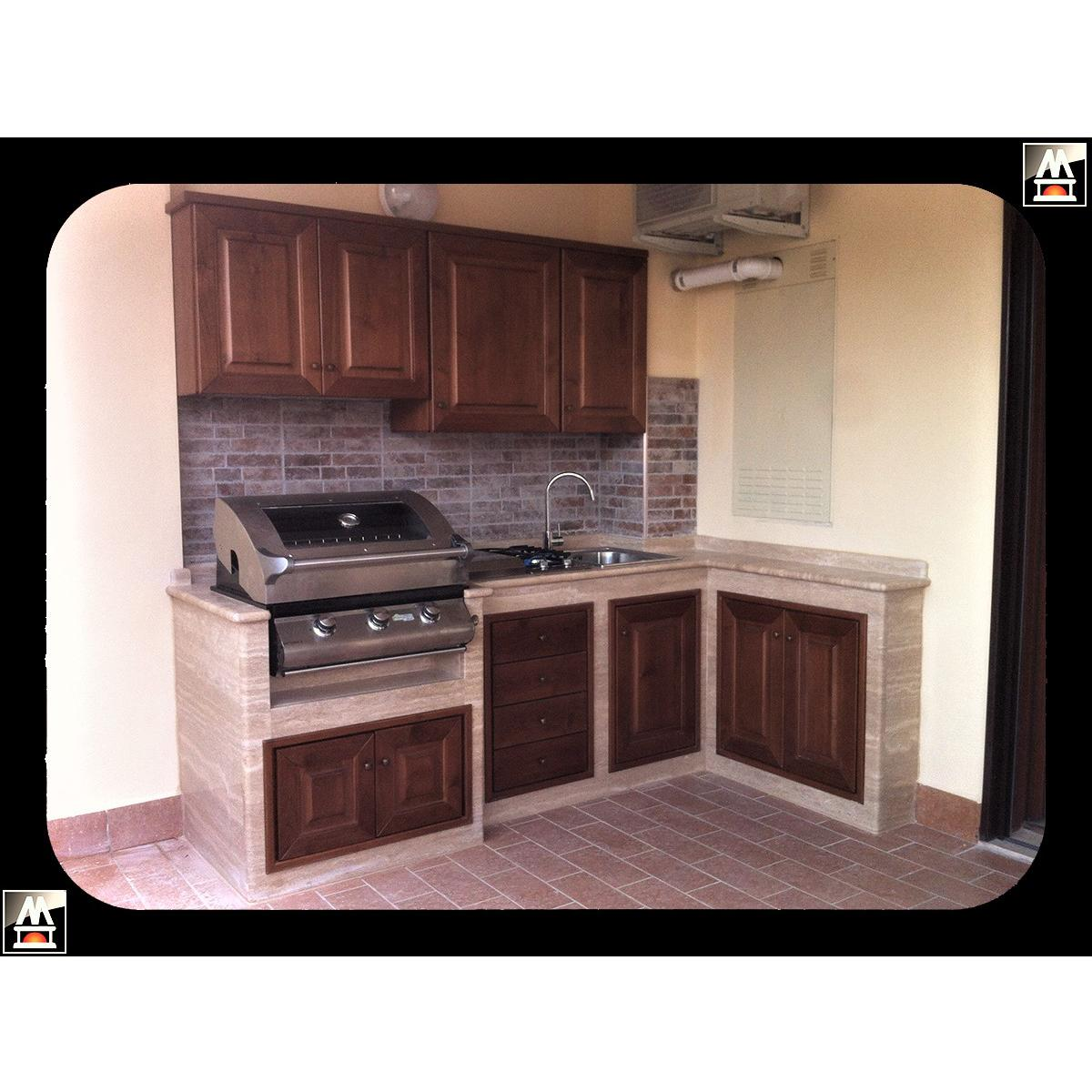 Pensili Per Cucina Prezzi cucina da esterno con pensili in legno