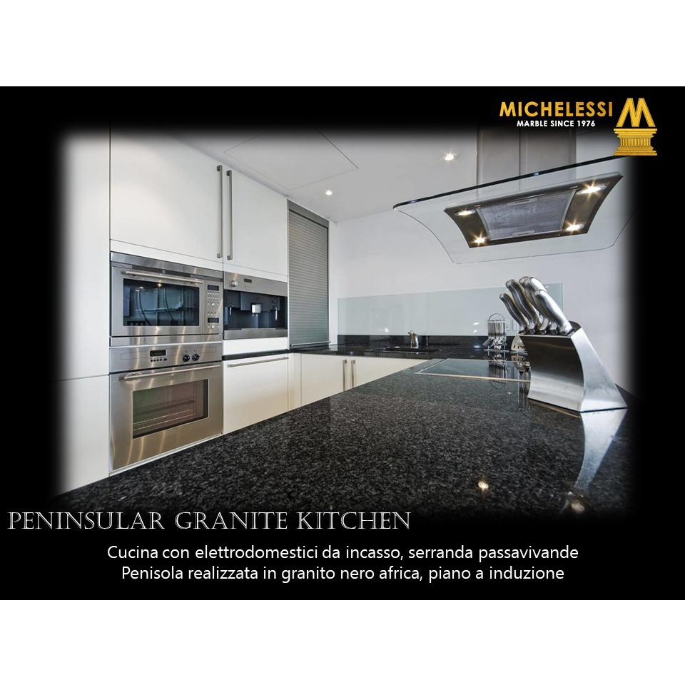 Peninsular Granite Kitchen