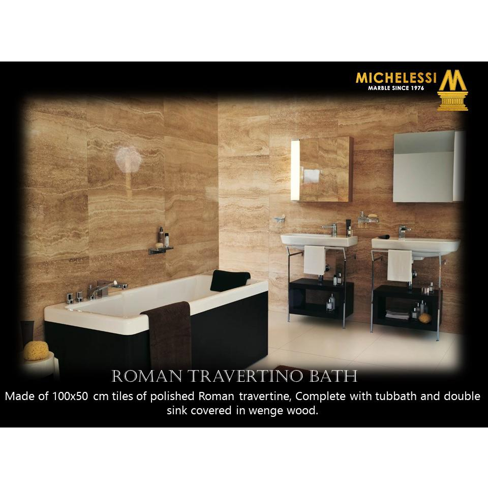 ROMAN TRAVERTINO BATH