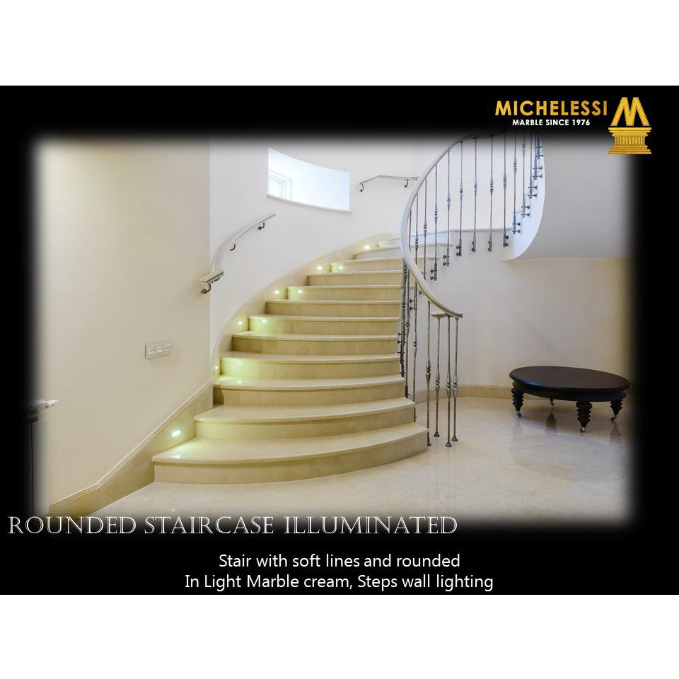 ROUNDED STAIRCASE ILLUMINATED