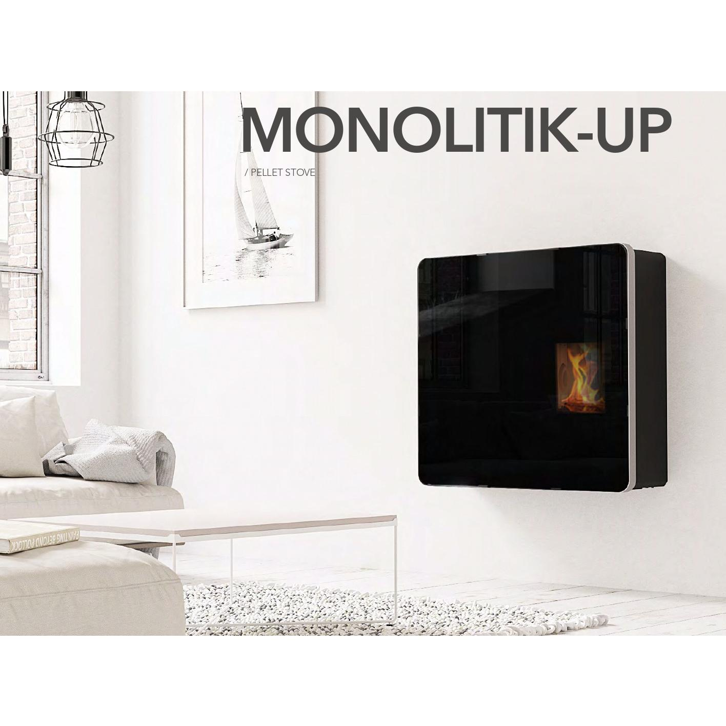 Stufa a pellet Kalon Monolitik Up 10 kw