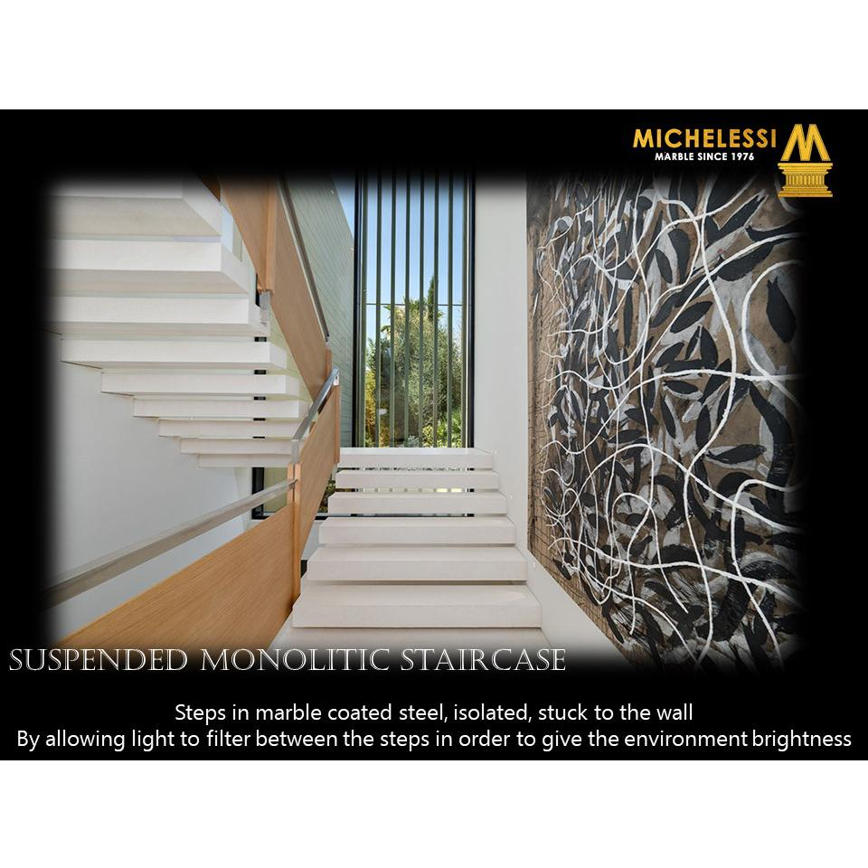 SUSPENDED MONOLITIC STAIRCASE