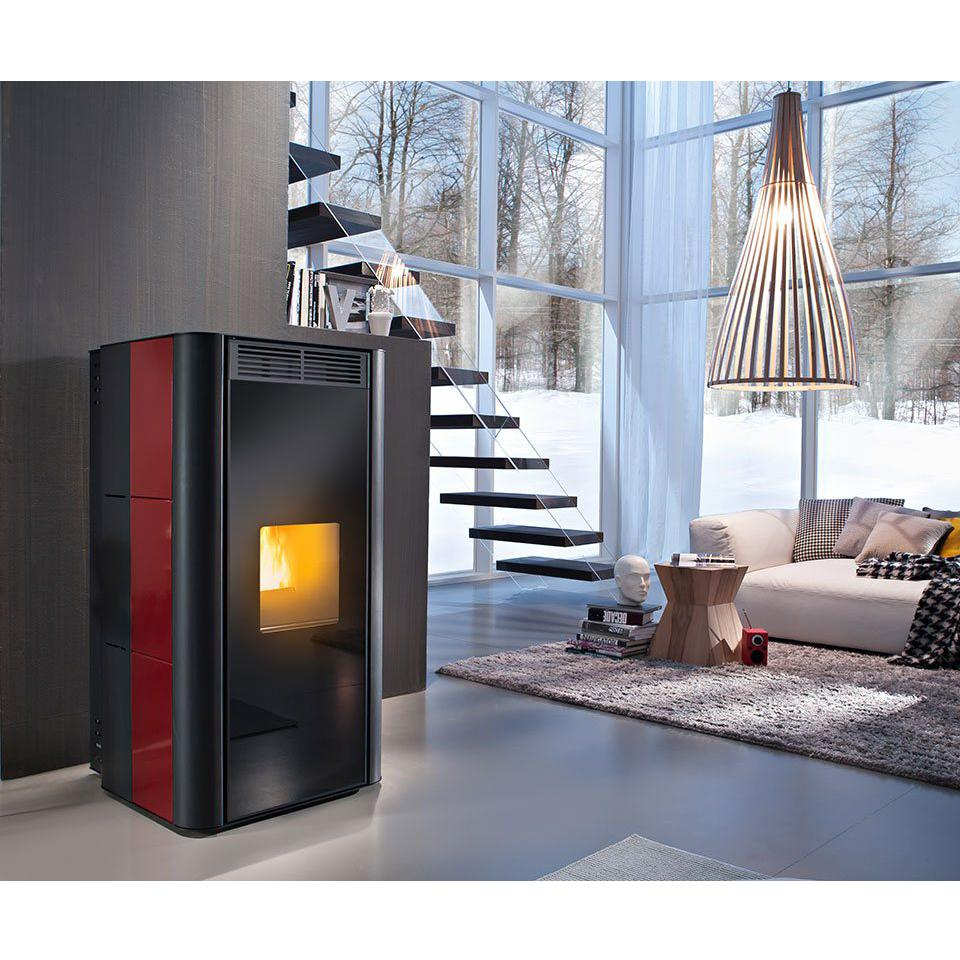Termostufa a pellet Red Lotus 24 kw