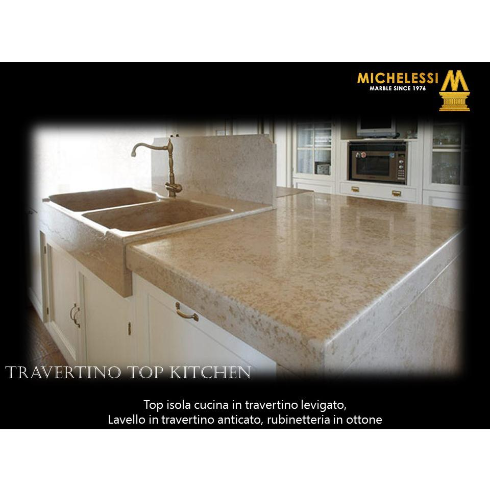 Travertino Top Kitchen