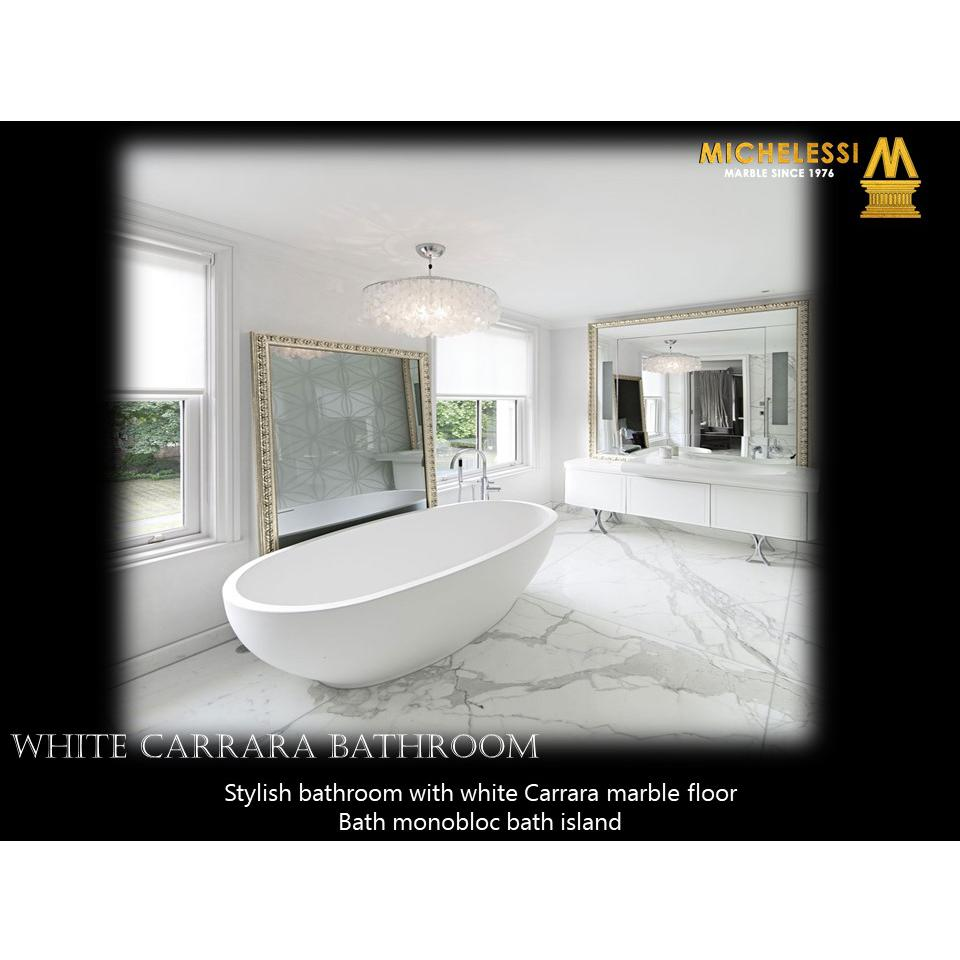 WHITE CARRARA BATHROOM