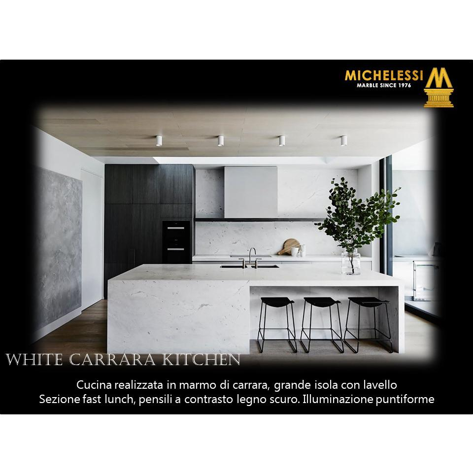 White Carrara Kitchen