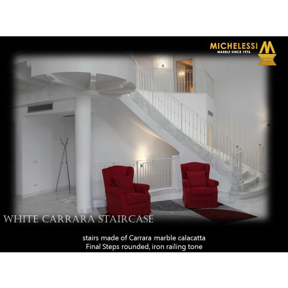 WHITE CARRARA STAIRCASE